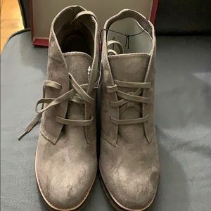 Merona taupe suede boots - new w tags